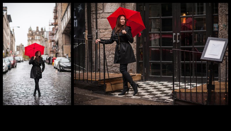 scotland, edinburgh, red umbrella, Karolina Kotkiewicz photographer