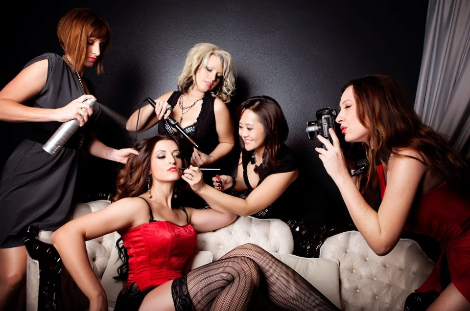 las vegas boudoir, beauty team