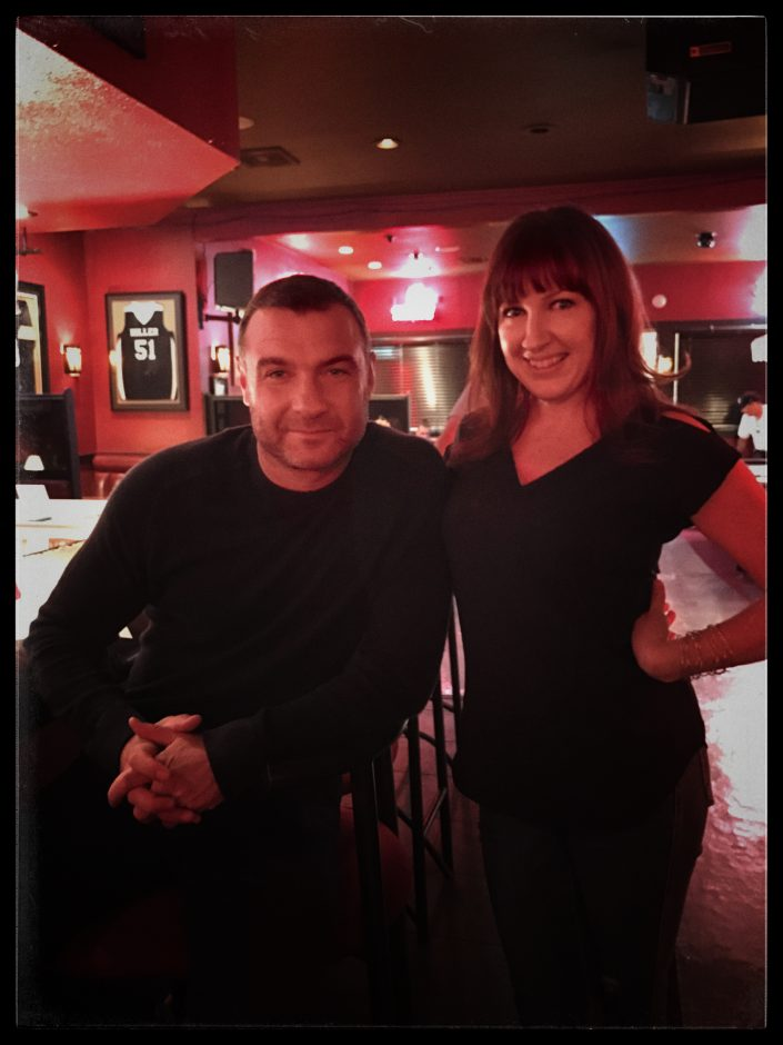 Liev Schreiber and Stacie Frazier on the set of Ray Donovan, Stacie Frazier