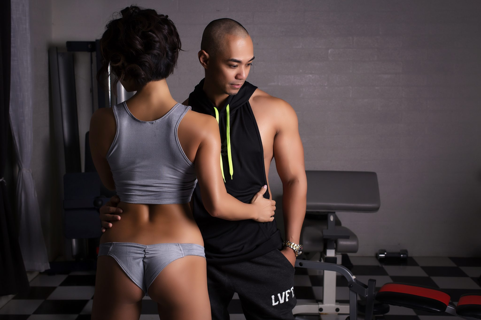 couple, home gym, haute shots