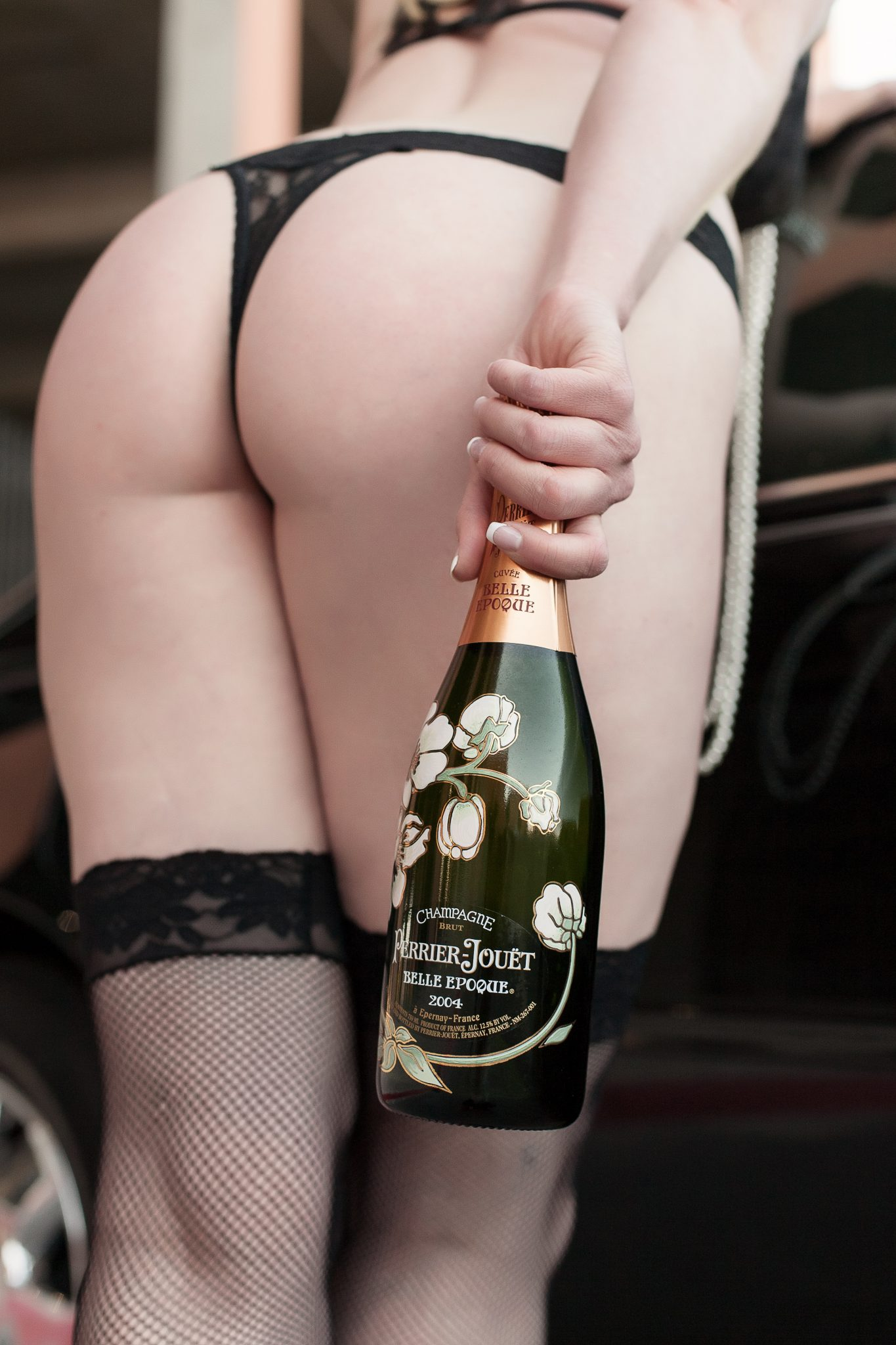 Maison Perrier-Jouët featured in boudoir photography shoot.