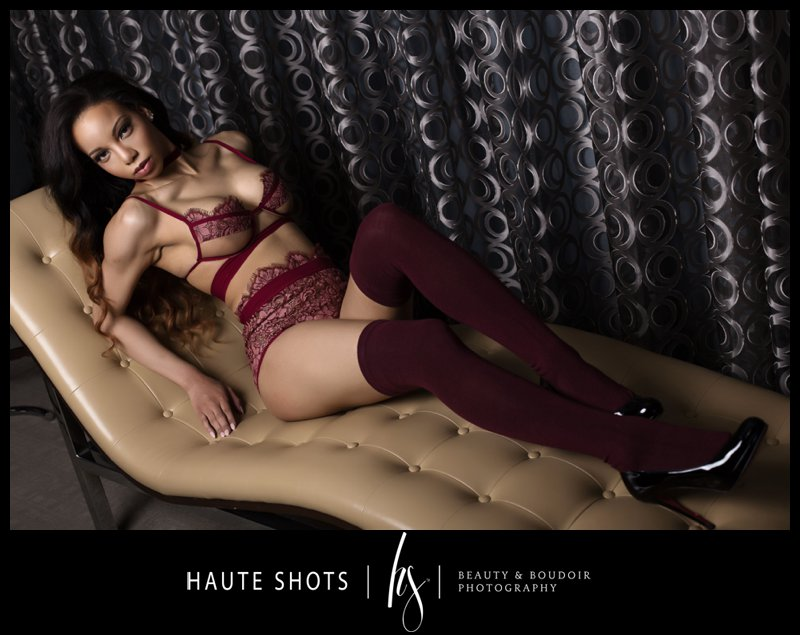 haute shots, stacie frazier, chaise lounge pose