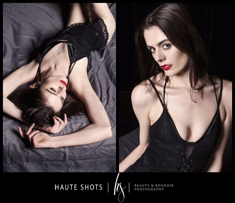 Model posing for boudoir photography class by Stacie Frazier of Haute Shots for ImagingUSA 2020 in Nashville.