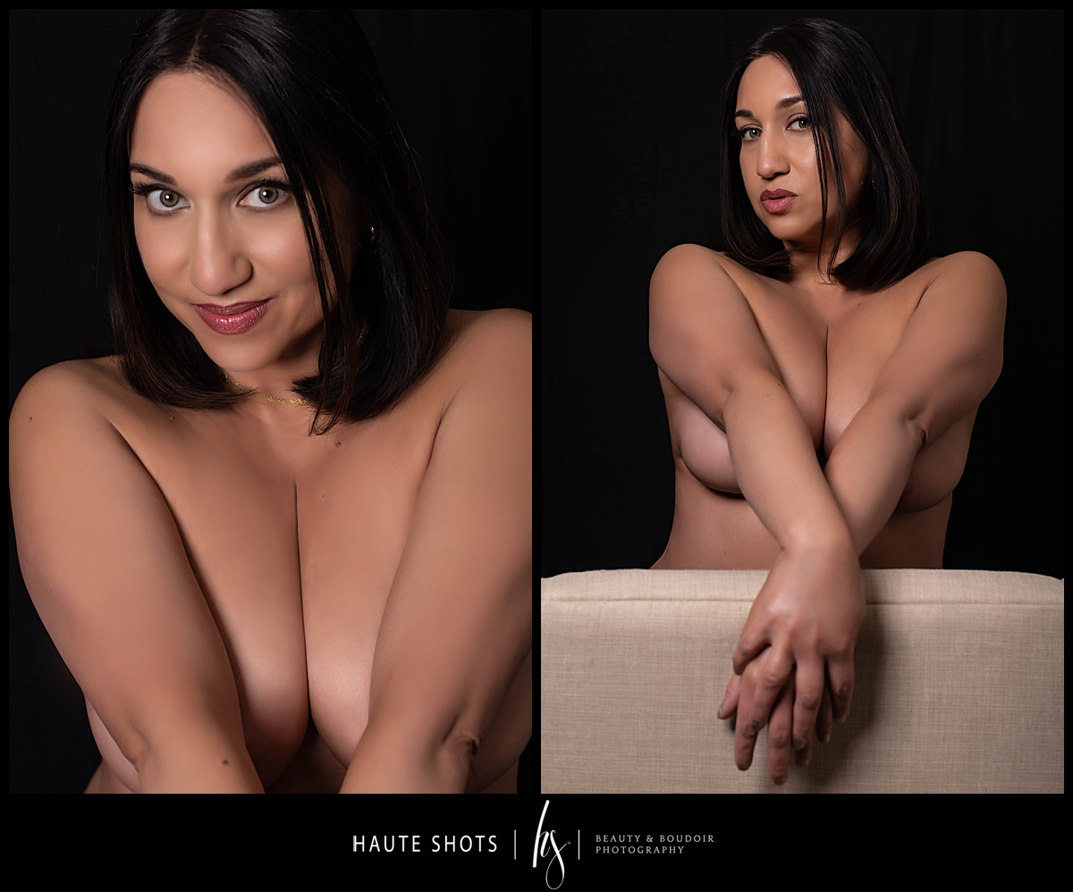 Boudoir photography, implied nude, topless for What's Sexy Now Haute Shots blog series